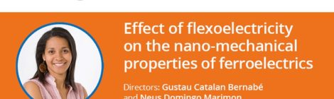 THESIS DEFENSE: Effect of flexoelectricity on the nano-mechanical properties of ferroelectrics